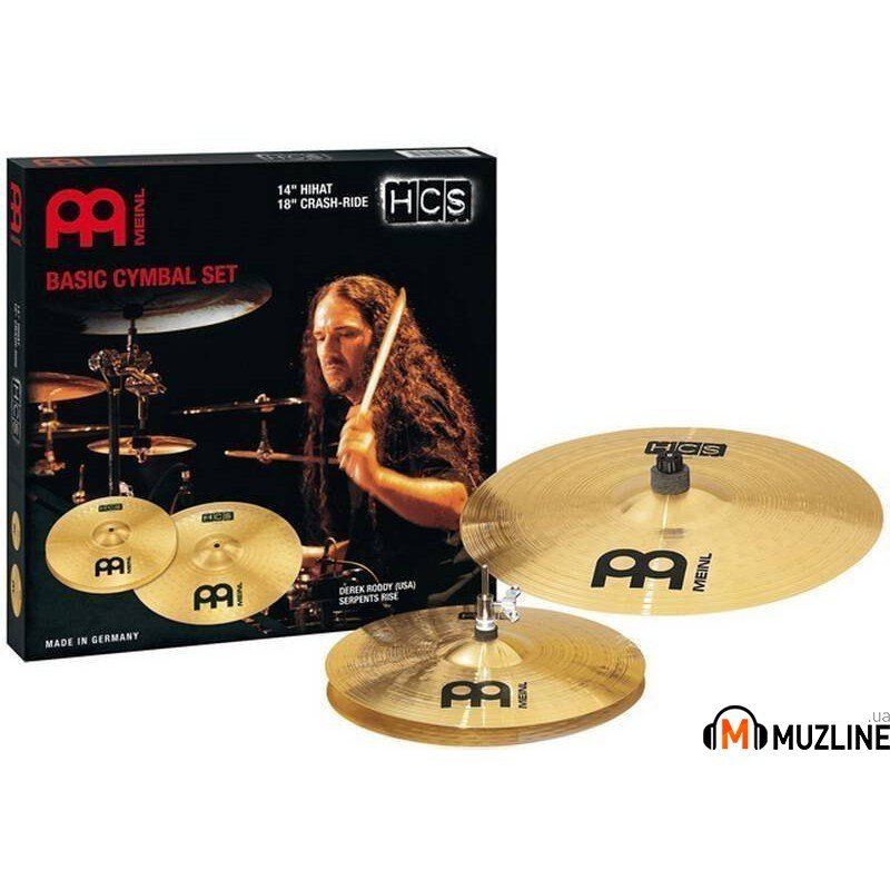 "Meinl HCS1418 14"" Hihat 18"" Crash-ride Set"
