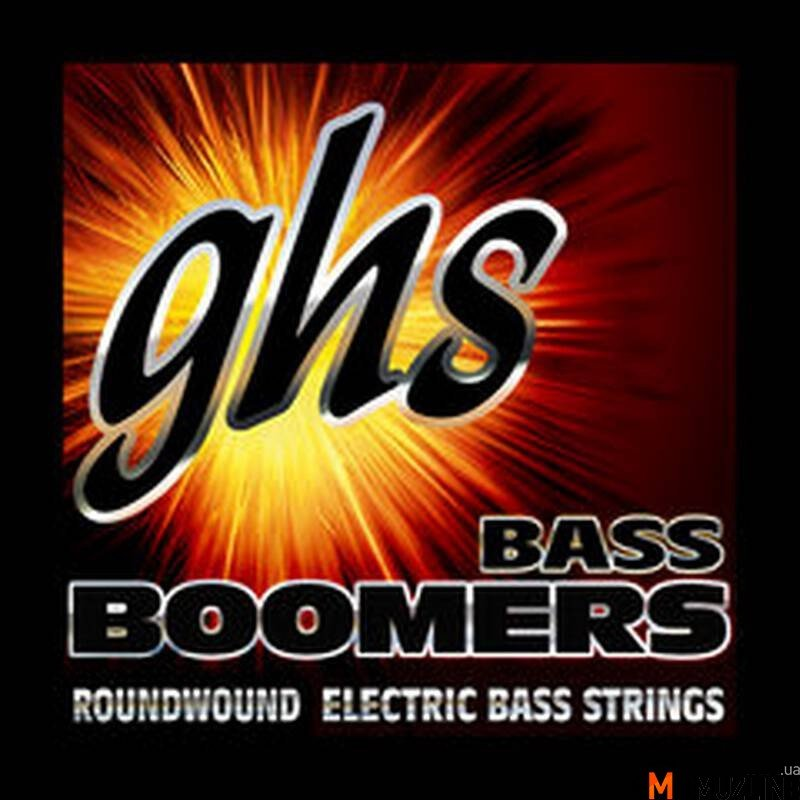 Струны для бас-гитары GHS Strings M3045X Bass Boomers Long+Medium