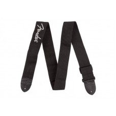 Fender Poly Strap Grey 2 Black Pewter Logo