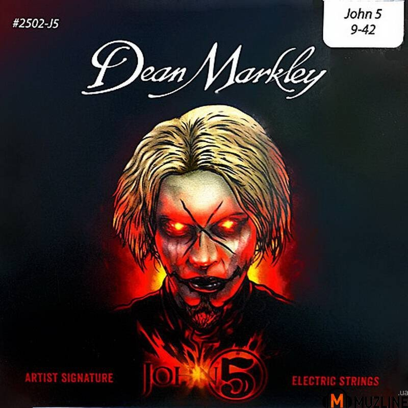 Струны для электрогитары Dean Markley 2502-J5 John5 Signature Electric Lt 09-42
