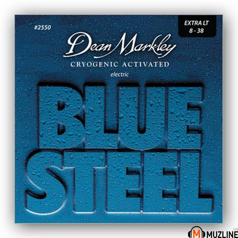 Струны для электрогитары Dean Markley 2550 Bluesteel Electric Xl 08-38