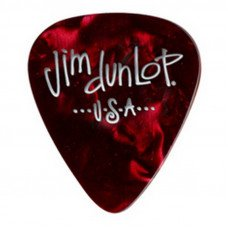 Dunlop 483P09MD Genuine Celluloid Red Pearloid Medium