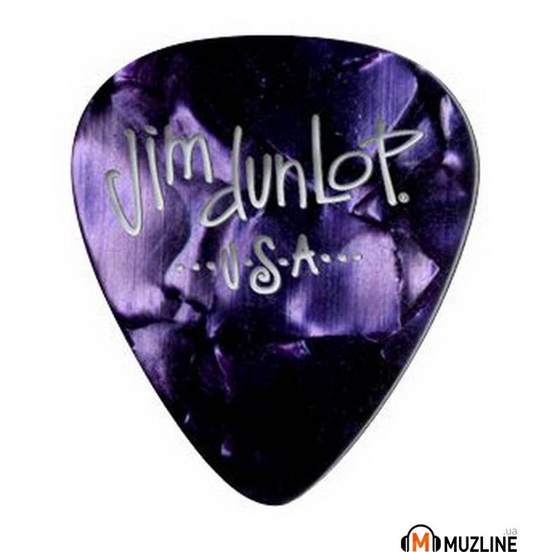 Dunlop 483P13MD Genuine Celluloid Purple Pearloid Medium