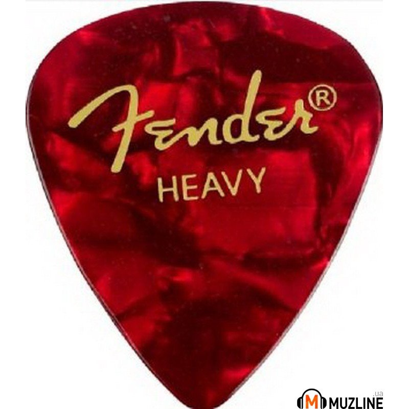 Fender 351 Premium Celluloid Red Moto Heavy