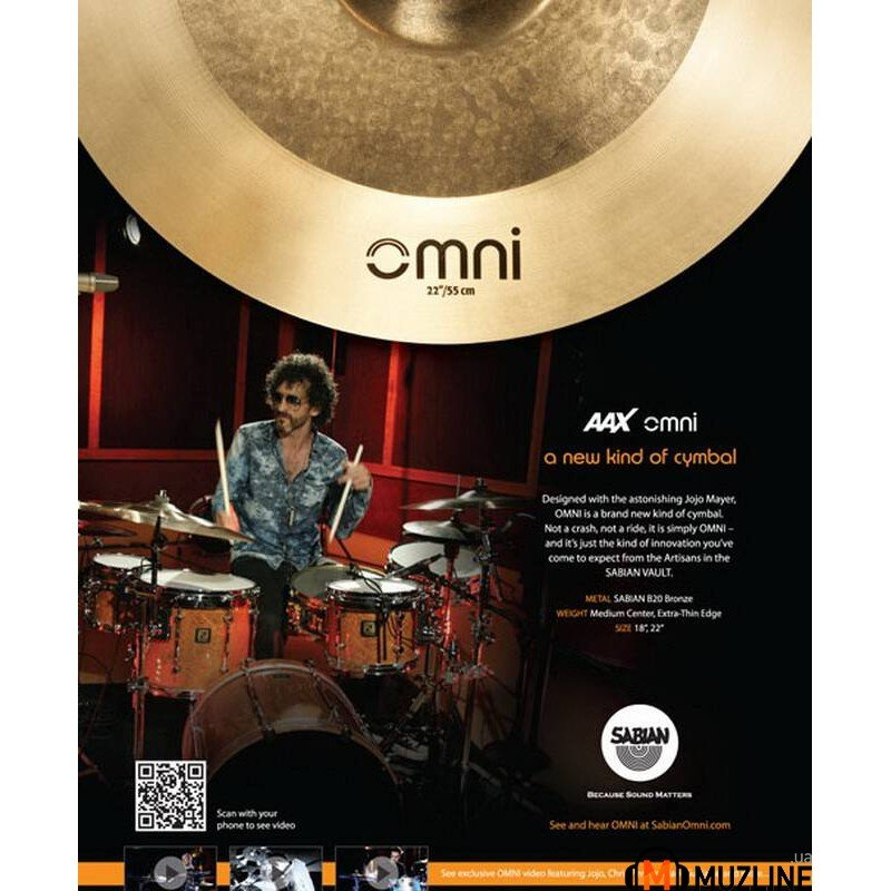 "Crash Sabian 18"" AAX O-Zone Crash"
