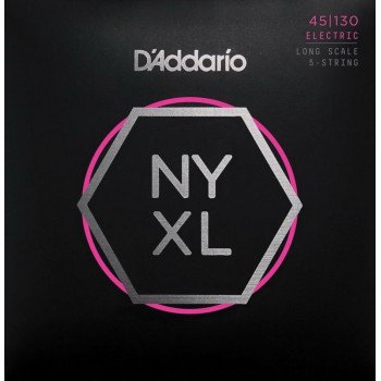Струны для бас-гитары D'Addario NYXL45130 Regular Light 5-String 45-130