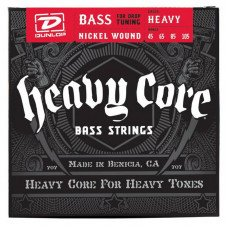 Струны для бас-гитары Dunlop DBHCN45105 Heavy Core Bass Heavy 45-105