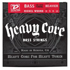 Струны для бас-гитары Dunlop DBHCN55115 Heavy Core Bass Heavier 55-115