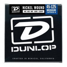 Струны для бас-гитары Dunlop DBN45125T Nickel Plated Steel Medium 5 Tapered B 45-125