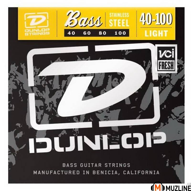 Струны для бас-гитары Dunlop DBS40100 Stainless Steel Light 40-100
