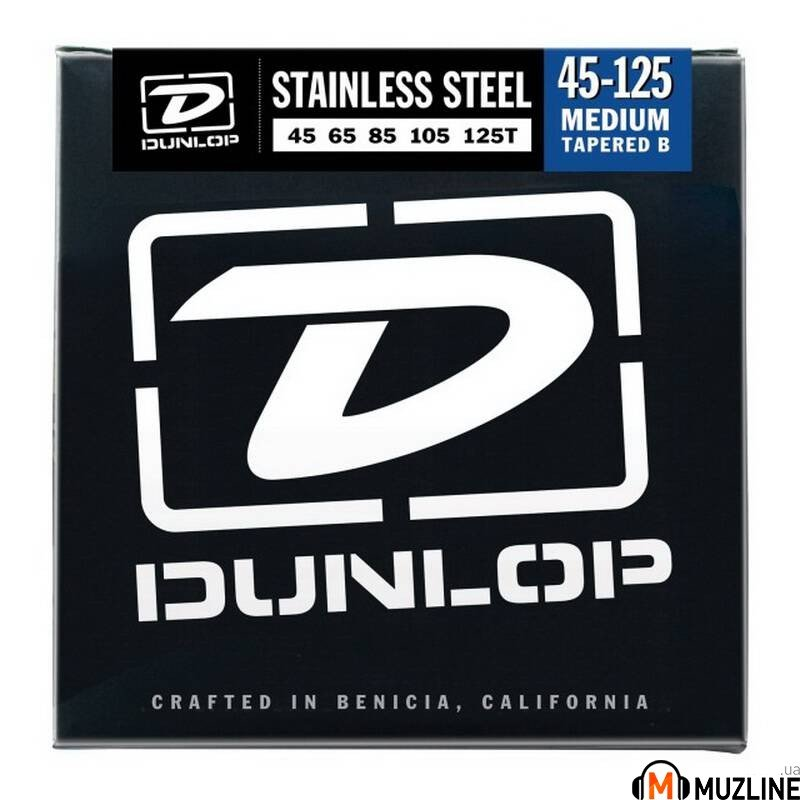 Струны для бас-гитары Dunlop DBS45125T Stainless Steel Medium 5 Tapered B 45-125