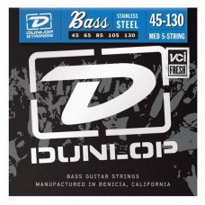 Струны для бас-гитары Dunlop DBS45130 Stainless Steel Medium 5 String 45-130