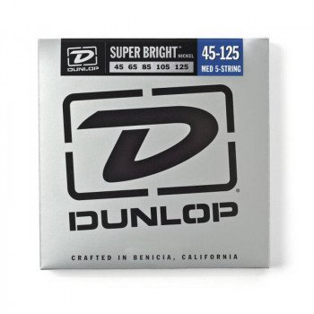 Струны для бас-гитары Dunlop DBSBN45125 Super Bright Nickel 45-125