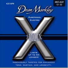 Струны для электрогитары Dean Markley 2516PN Helix Pure Nickel Electric Med Jazz 12-52