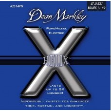 Струны для электрогитары Dean Markley 2514PN Helix Pure Nickel Electric Jazz 11-49