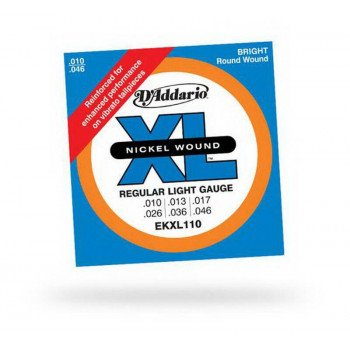 Струны для электрогитары D'Addario EKXl110 Xl Regular Light Reinforced 10-46