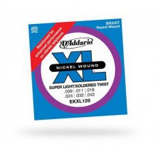 Струны для электрогитары D'Addario EKXl120 Xl Super Light Reinforced 9-42