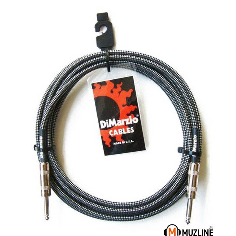Инструментальный кабель Jack - Jack DiMarzio EP1710SS Instrument Cable 10Ft Black Grey