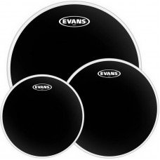 Evans ETPCHR-R Black Chrome Rock Set