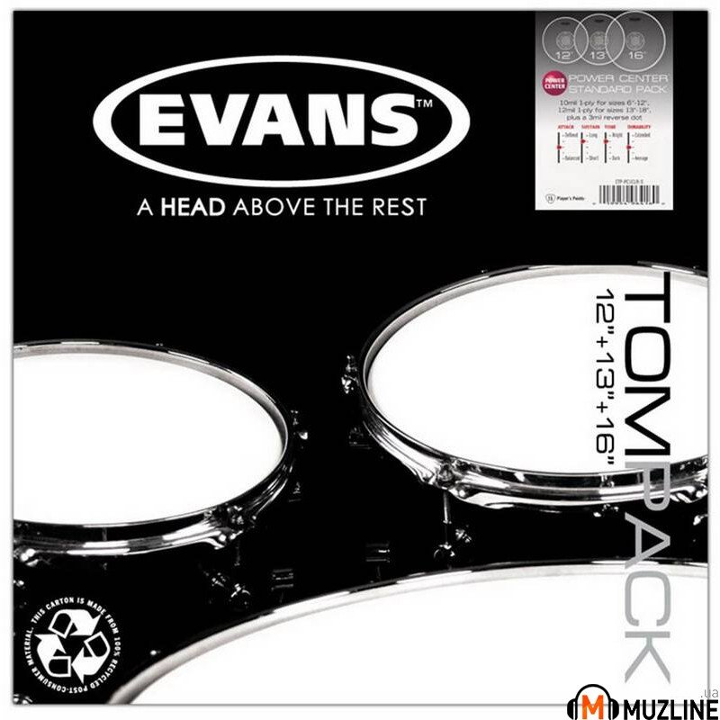 Evans ETPPC1CLR-S Power Center Clear Standart