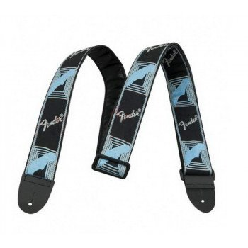Fender 2 Monogrammed Black Light Grey Medium Blue Strap