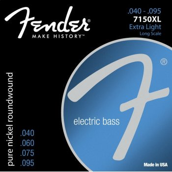 Струны для бас-гитары Fender 7150XL Original  Pure Nickel Roundwound