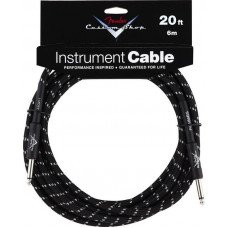 Инструментальный кабель Jack - Jack Fender Custom Shop Cable 20 Black Tweed