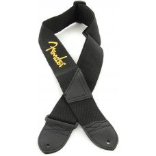 Fender Strap 2 Black Yellow Logo