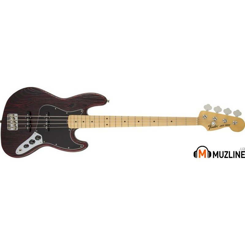 Бас-гитара Fender American Standard Sandblasted LTD Edition Jazz Bass MN Crimson Satin