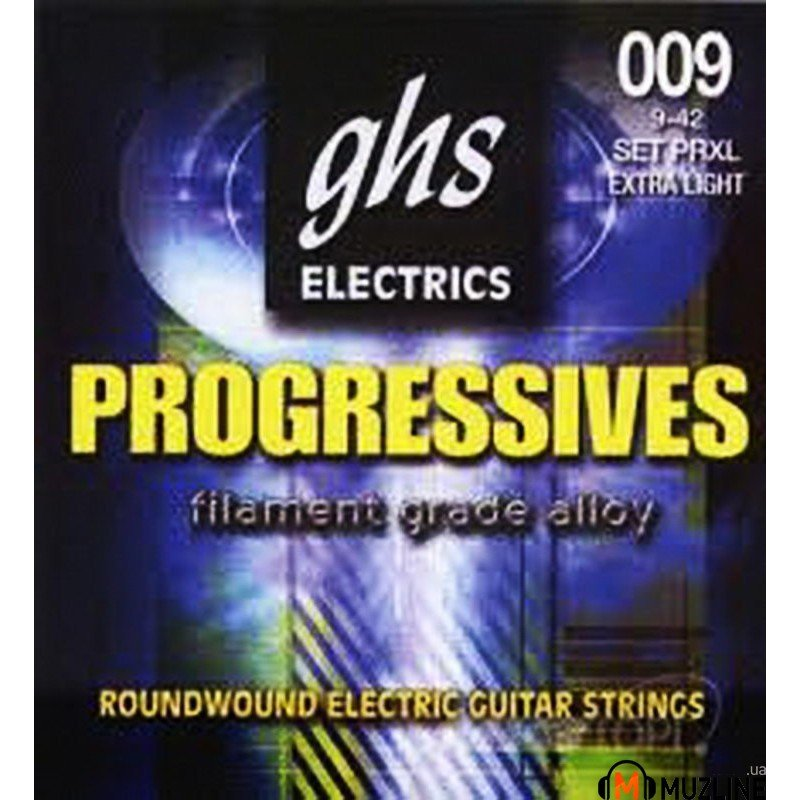 Струны для электрогитары GHS Strings Progressives PRXL 09-42