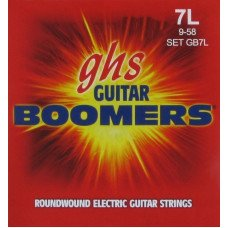 Струны для электрогитары GHS Strings 7 String Boomers GB7L