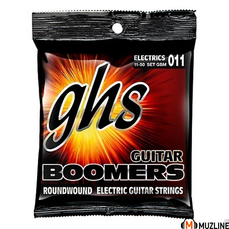 Струны для электрогитары GHS Strings GBM Guitar Boomers