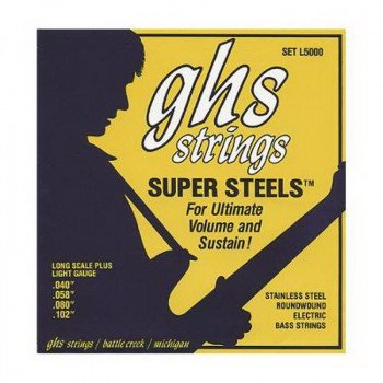 Струны для бас-гитары GHS Strings Super Steel Roundwound Bass Set