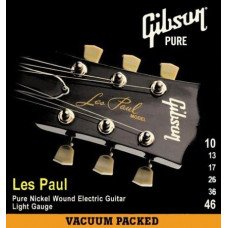 Струны для электрогитары Gibson SEG-LP10 Les Paul Pure Nickel Wound .010-.046