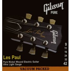 Струны для электрогитары Gibson SEG-LP9 Les Paul Pure Nickel Wound .009-.042