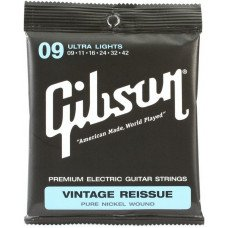 Струны для электрогитары Gibson SEG-VR9 Vintage Re-Issue Pure Nickel Wound .009-.042