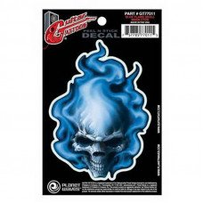 Наклейка для гитары Planet Waves GT77011 Guitar Tatoo, Blue Flame Skull