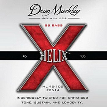 Струны для бас-гитары Dean Markley 2614B Helix HD Bass Ss ML5 45-128