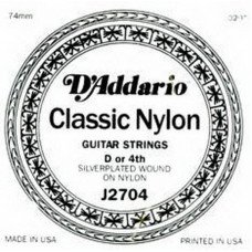 D'Addario J27H04 Classics Silver (4-я струна) D Hard Tension