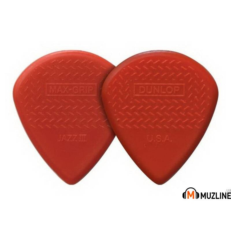 Dunlop 471P3N Max Grip Jazz III Red Nylon Player's Pack