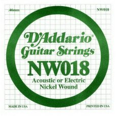 Струны для электрогитары D'Addario NW018 XL Nickel Wound 018