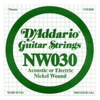 Струны для электрогитары D'Addario NW030 XL Nickel Wound 030