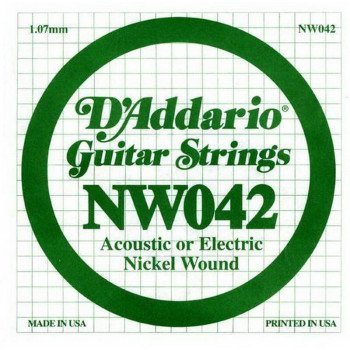 Струны для электрогитары D'Addario NW042 XL Nickel Wound 042