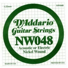 Струны для электрогитары D'Addario NW048 XL Nickel Wound 048