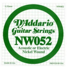 Струны для электрогитары D'Addario NW052 XL Nickel Wound 052