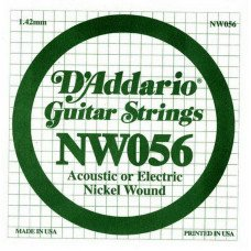 Струны для электрогитары D'Addario NW056 XL Nickel Wound 056