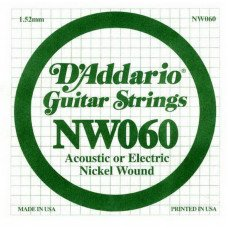 Струны для электрогитары D'Addario NW060 XL Nickel Wound 060