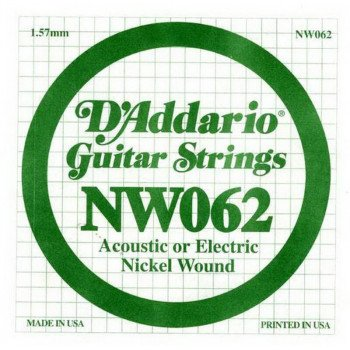 Струны для электрогитары D'Addario NW062 XL Nickel Wound 062