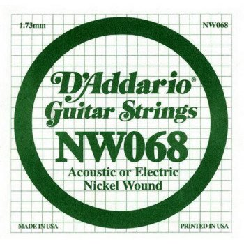 Струны для электрогитары D'Addario NW068 XL Nickel Wound 068