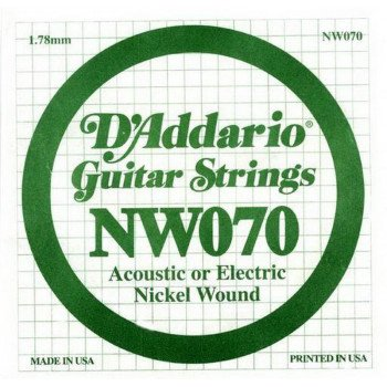 Струны для электрогитары D'Addario NW070 XL Nickel Wound 070